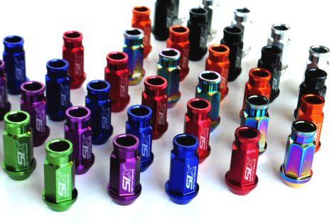SIX Lightweight ALU 7075 Lug Nuts 12x1.50 V2