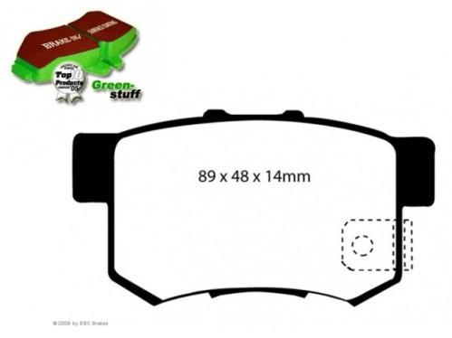 EBC Greenstuff Bremsbeläge für Suzuki Swift Sport 1.6 HINTEN