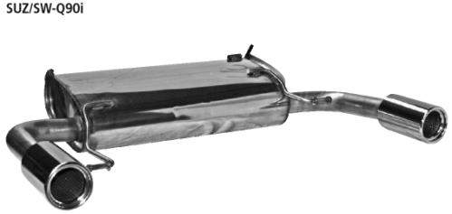 BASTUCK Sportendschalldämpfer für Suzuki Swift Sport 1,6