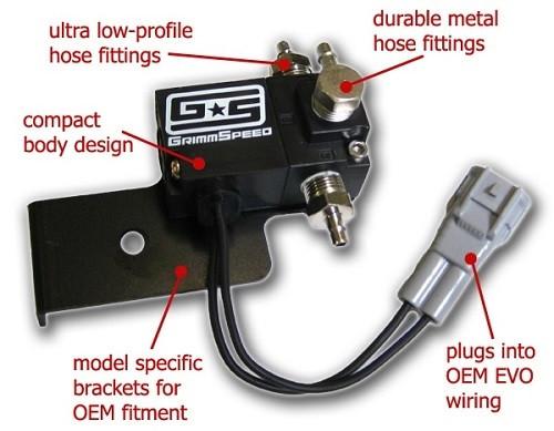 "GRIMMSPEED ""Electronic Boost Control Solenoid 3-Port"" für Mitsubishi Evo 8/9"