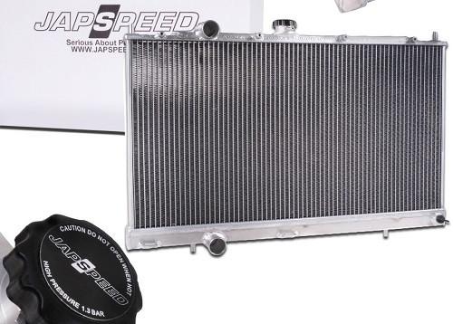 """JAPSPEED """"High Flow"""" Aluminium Wasser-Kühler für Mitsubishi EVO 4 / 5 / 6"""
