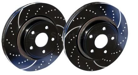 "EBC ""Turbo Groove Disc Black"" Bremsscheiben VA für Mazda 3 MPS BL 09-"