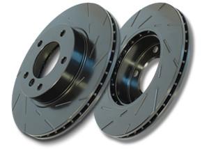 """EBC """"Black Dash-Disc"""" Bremsscheiben VA für Mazda 3 MPS BL 09-"""