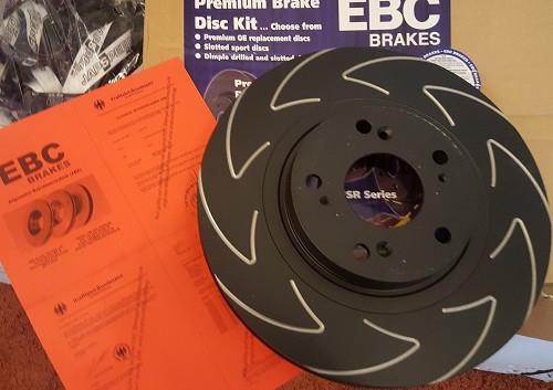 EBC High-Carbon Blade Disc Black Bremsscheiben 300x25mm für Honda Civic EP3