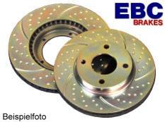 """EBC """"Turbo Groove"""" Bremsscheiben Vorne für Toyota Celica T23 TS"""