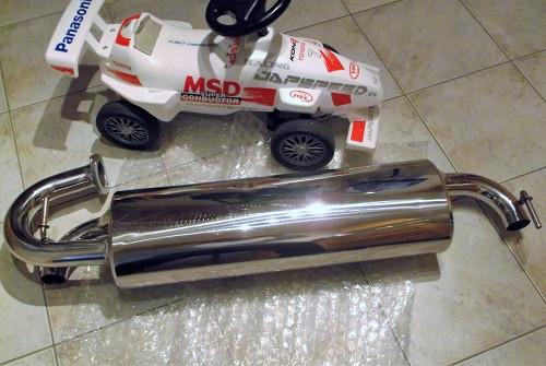 """JAPSPEED """"V2"""" Sport-Endschalldämpfer für Toyota MR2 W2/SW20 Motor 3S-GE"""