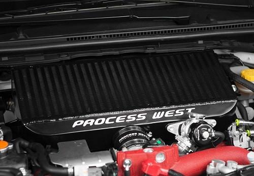 """PROCESS WEST """"Black Top Mount Intercooler"""" für Subaru Impreza STI 08-2016"""