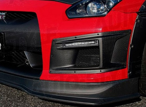 ChargeSpeed Front bumper ducts with LED DRL's & Turn signal Nissan GT-R R35 2007-2010 - Black