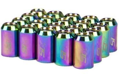 SIX Performance STEEL Lug Nuts NeoChrome V4