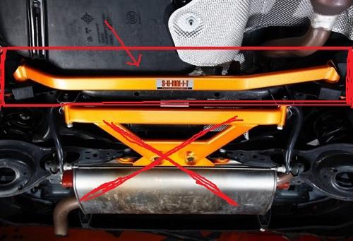"""SUMMIT Racing """"Rear Lower Tie Bar-2 point"""" für Mazda 3 MPS BK & BL"""