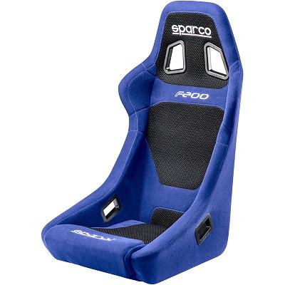 Sparco Sportsitz F200 Schwarz / Blau