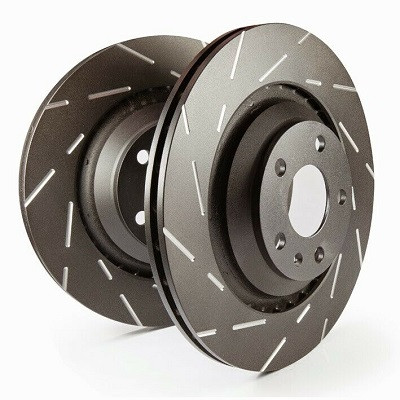 EBC Turbo Groove Disc Black Bremsscheiben VA Nissan Skyline R33 / R34