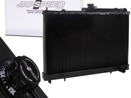 """JAPSPEED """"Black Edition"""" Wasser-Kühler für Nissan Skyline R33/R34 GTS-T"""