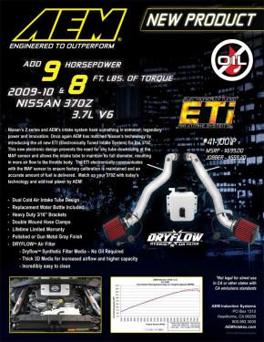 "AEM Cold Air Intake Kit ""ETI"" für Nissan 370Z"
