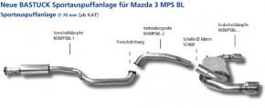BASTUCK Abgasanlage für Mazda 3 MPS BL
