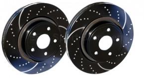 """EBC """"Turbo Groove Black"""" Sport-Bremsscheiben für Suzuki Swift 1,3 / 1,5"""