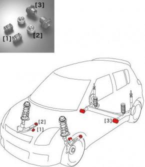 """MONSTER Sport """"Reinforced Mounts -Suspension"""" Suzuki Swift Sport 05-11"""