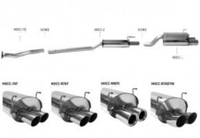 BASTUCK Komplettanlage ab KAT für Honda Civic Type-R EP3