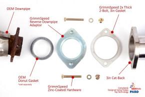 "GRIMMSPEED ""Stock DP / 3 Zoll Catback Adapter"" für Subaru"
